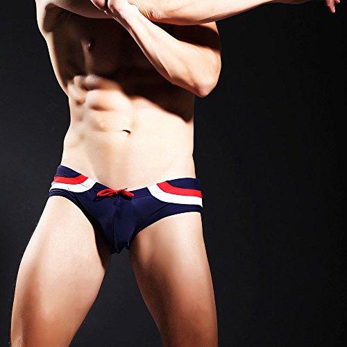 ZQ@QXSlip de bain pour hommes taille basse d'un confortable pour fermer les slips,M,Blue