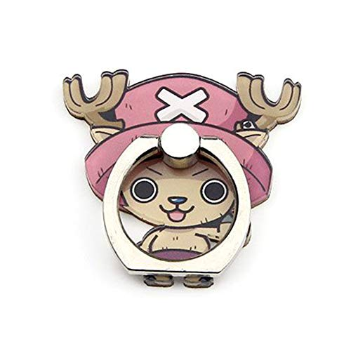 Raleighsee Anime Cartoon One Piece Acrylic Mobile Phone Finger Ring Buckle Support Multifunction Zinc Alloy Bracket Anime Hot Gift for Anime Fans( Chopper-2) (Chopper Buckle)