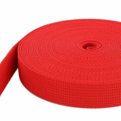 rot 1,8mm stark 20mm breit UV 10m PP Gurtband