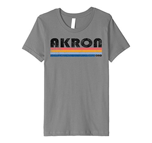 Kids Premium Vintage 1980s Style Akron OH T Shirt 10 - Akron Style 10