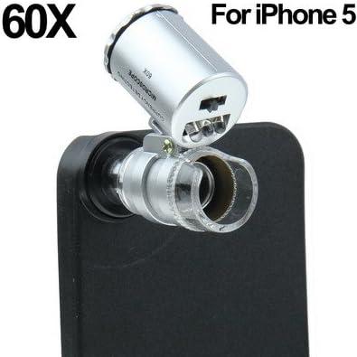 60X con lente de zoom microscopio de luz relámpago (blanco, lila ...