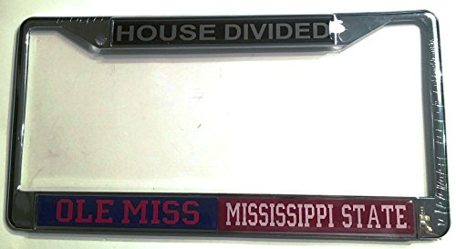 Ole Miss Rebels - Mississippi State Bulldogs House Divided Car Tag License ()