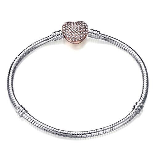 Ink White 17-21Cm Silver Snake Chain Link Bracelet Fit for Women DIY Jewelry Making,Light Yellow Color,21Cm