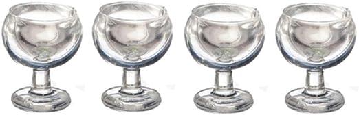 Dolls House 2 Bicchieri Bicchiere da Acqua in miniatura Pub accessorio da cucina sala da pranzo