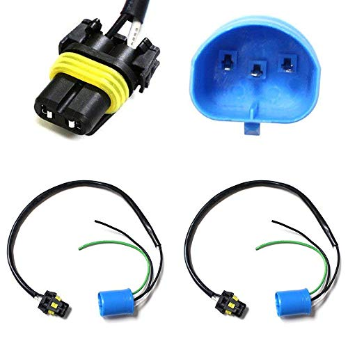 iJDMTOY (2) 9006-To-9007 Conversion Wires Adapters/Power Cords For Headlight Retrofit or HID Conversion Kit - Gt Pod Legacy Gauge
