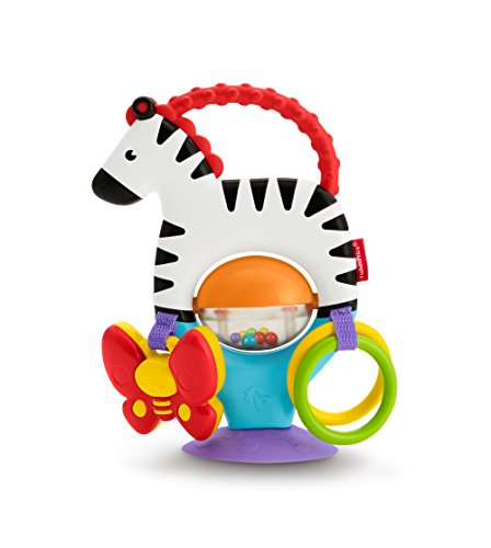 Fisher Price Activity Zebra Suction Cup High Chair Developmental Toy