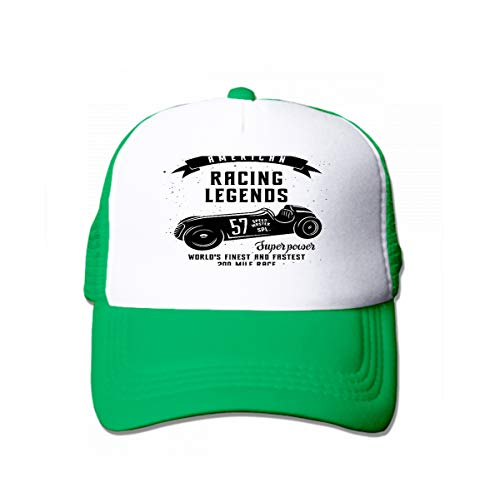 Classic Cotton Dad Hat Adjustable Plain Cap Custom Denim Baseball Cap for Adult Racing car Speed Racer Graphic American Race Vintage Poster Green