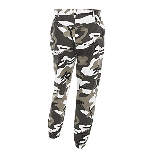 Pantaloni Donna Pantaloni Camuffamento m Estate Stampa s Sciolto Camouflage l Sportivi Jeans Tempo A mambain Cargo Libero Hip 7ff1xr