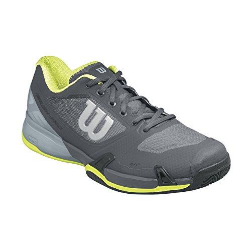 Wilson Wrs322660e095, Chaussures de Tennis Homme, Gris (Ebony / Monument / Lime Punch), 44 EU