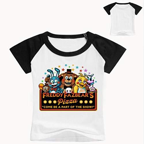 - KoreaFashion FNAF Shirt Cotton Merch Shirts for Kids Youth Birthday Welcome Funny Nightmare Cutout
