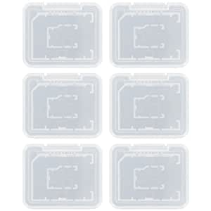 6 x Assecure Pro plástico titular estuche duro cubre para SD SDHC y tarjetas de memoria Micro SD - paquete transparente claro.
