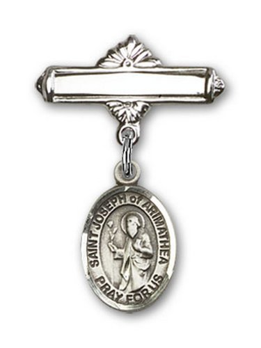 Icecarats Créatrice De Bijoux En Argent Sterling St. Joseph De Charme Arimathie Broche De Badge 1 X 5/8