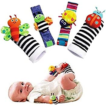 2e6232ab2464a BBS Baby Wrist Rattle Baby Socks, Animal Toys Set Soft Animal Toy Suitable  for Kids