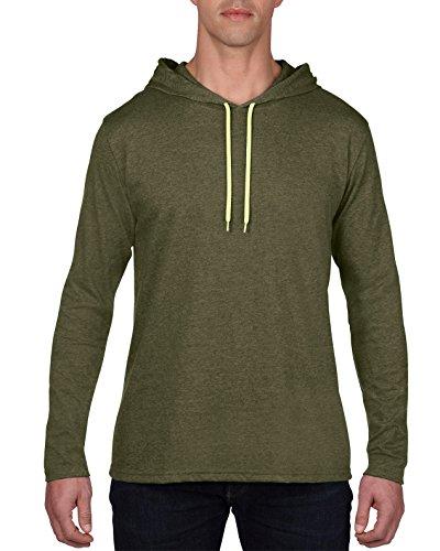 City Yellow Heather shirt Longues Green Manches Et Anvil Capuche T À neon Homme 4fwqfUxzTS
