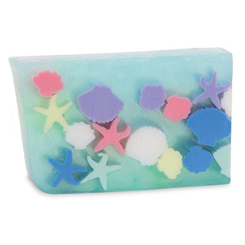 Primal Elements Sliced Soap Bar, Handmade Natural Glycerin Rich Formula, 5.8 oz, Seashells and Starfish