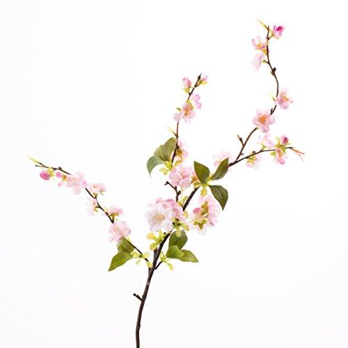 Künstlicher Kirschblütenzweig VALESKA, 25 Blüten, hellrosa, 80 cm - Kunst Zweig / Frühlingsdekoration - artplants