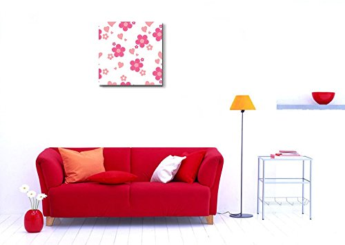 Seamless Pattern with Pink Flowers Wall Decor