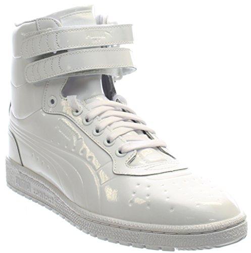 f05d0a93c3 PUMA Men's Sky Ii Hi Patent Emboss Fashion Sneaker, White, 11 M US