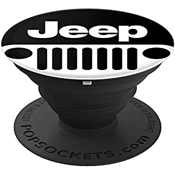 SUV Sport Car Offroad Truck Driving Tractor White Black - PopSockets Grip and Stand for Phones and Tablets
