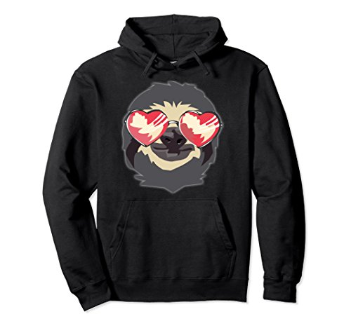 Unisex Sloth With Heart Sunglasses - Funny Women's Sloth Hoodie Large - Sunglasses Sloth