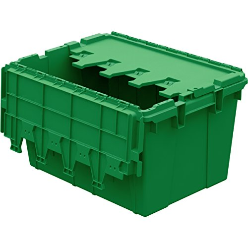 Buckhorn AC2115120204000 Industrial Grade Plastic Attached Lid Flip TOP 12 gallon Container Tote - 21