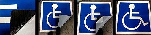 ADA Wheelchair Symbol for Handicap Parking Spaces - Self-Adhesive Mat