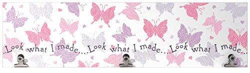 Pastel Design (Malden International Designs Pastel Butterflies Wall Artwork with 3 Clips, 3 Option, 6x22, Multicolor)