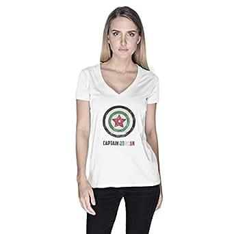 Creo Captain Jordan Superhero T-Shirt For Women - S, White