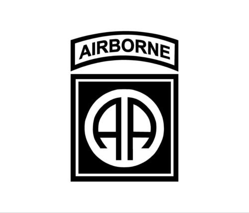 Airborne Sticker (82nd AIRBORNE PATCH Vinyl Decal Car Window Bumper Sticker Tab Infantry Army, die cut vinyl decal for windows, cars, trucks, tool boxes, laptops, MacBook - virtually any hard, smooth surface)