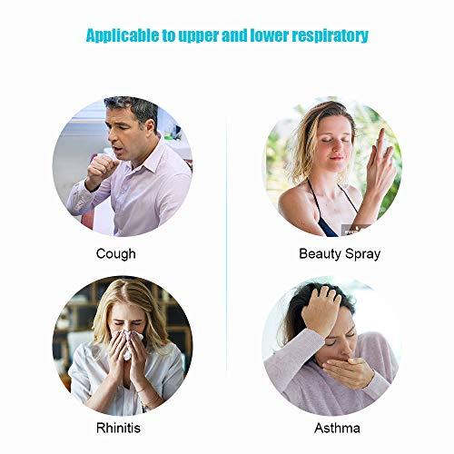 Tragbare Handinhalatoren, Kalte Nebelinhalatoren für Erwachsene und Tägliche Behandlungen für Den Einsatz des Personal Mini Inhaler Ultraschall-Dampfsterilisators für Erwachsene und Kinder