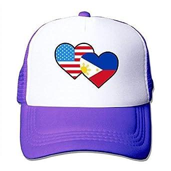 DIYABC Gorra de béisbol para Adultos, Bandera de Filipinas ...