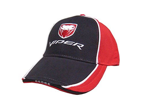 Dodge Viper Hat - (2003-2010) Fang Logo RT/10 SRT-10 GTS (Adjustable, Black/Red)