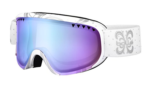 Bolle Scarlett Goggles, Shiny White Night, Aurora - Rectangular Goggles