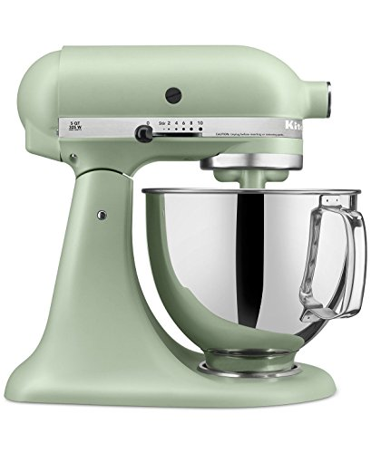 KitchenAid RRK150PI Artisan Series 5-Qt. Stand Mixer with Pouring Shield – Matte Pistachio (CERTIFIED REFURBISHED) For Sale