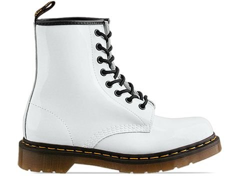 Dr Marten#039s Women#039s 1460 8Eye Patent Leather Boots White 9 BM US