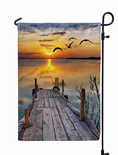 Shorping Easter Garden Flag, 12x18Inch Healthy Dessert for Holiday and Seasonal Double-Sided Printing Yards Flags -