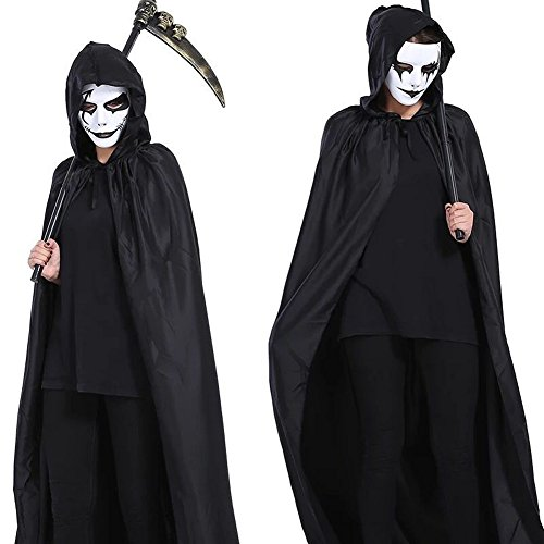 Adult Voldemort Costumes (Black Cloak with Halloween Cape Costume Cosplay Devil for Teens and Adults 1pc)