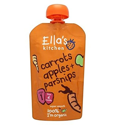 Ella'S Kitchen Carrots, Apples + Parsnips Stage 1 From 4 Months 120G - Pack of 2 by Ella's Kitchen