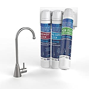 blu logic usa Drink Top Healthy Under Counter Water Filter System, 3 Stage