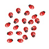 Saying 20 Pcs Miniature Decorations Coccinella Septempunctata, Resin DIY Crafts for Fairy Garden Bonsai Dollhouse Succulent Decor