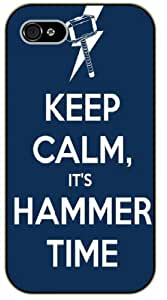LJF phone case iPhone 5C Keep Calm it's hammer time - black plastic case / Keep Calm, Motivation and Inspiration, thor
