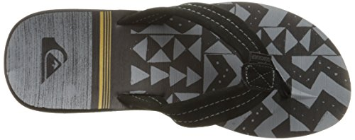 Quiksilver Mens Carver Suede Art 3 Point Sandal Black/Black/Orange jgdAQCC