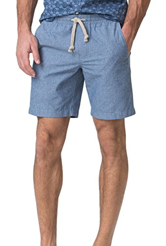 Chaps Mens Pull-On Deck Shorts (Blue, ()