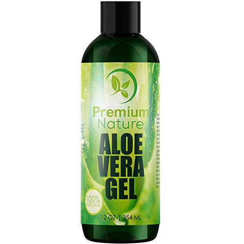 Aloe Vera Gel Pure Juice - For Face & Dry Skin Psoriasis Eczema Treatment Cold Sore Scar After Bug Bite Redness Relief Rash Razor Bump Sunburn DIY Body Lotion Skincare Moisturizer 100% Pure