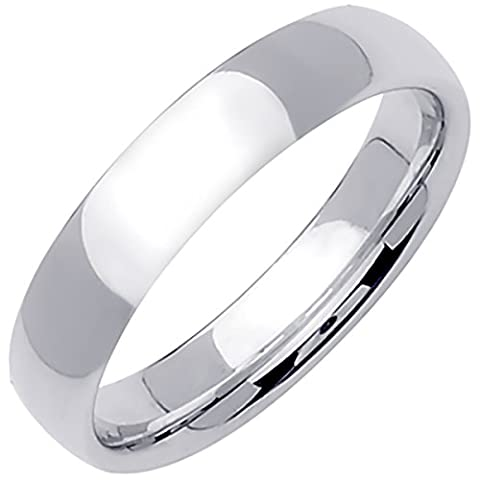 14K White Gold Traditional Classic Men's Comfort Fit Wedding Band (5mm) Size-12.5c1 - 14k Gold Classic Wedding Band