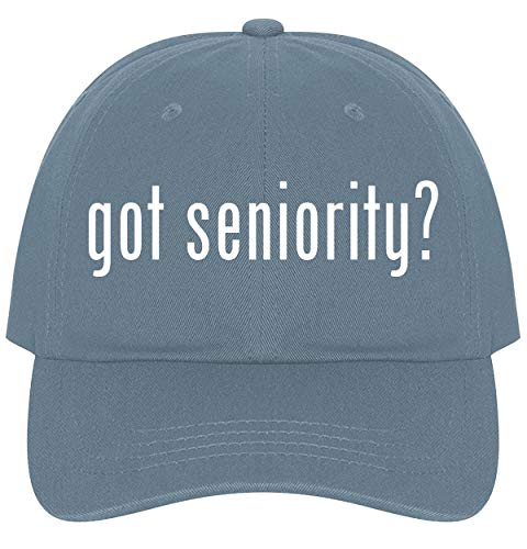 The Town Butler got Seniority? - A Nice Comfortable Adjustable Dad Hat Cap, Light Blue