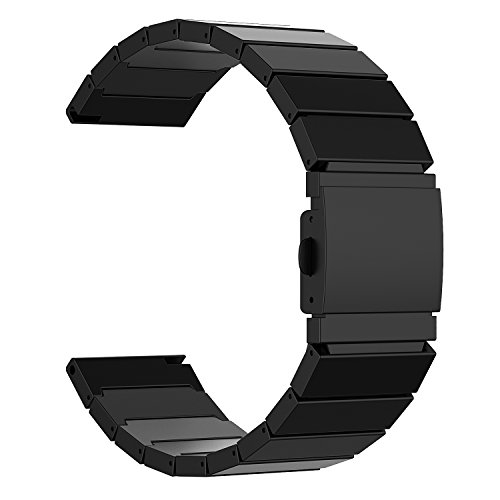 Fitbit Blaze Band, JETech Stainless Steel Bracelet Band Strap for Fitbit Blaze Smart Fitness Watch - for Both Large and Small Size (Black)
