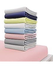 Hoeslaken Jersey Cotton Adult en Baby Bonnet 12 tot 27 cm - Gecertificeerd Chemicaliënvrij (OEKO TEX), Hoeslaken met Full Elastic - Beddengoed voor matrassen