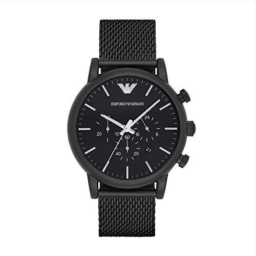 Emporio Armani Men's AR1968 Dress Black Quartz Watch (Emporio Watch)