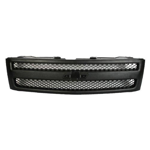 CarPartsDepot, Front Grille Outer Frame Textured Matte Black Mesh Insert, 400-15476 GM1200578 (Chevrolet Silverado Grille Insert)